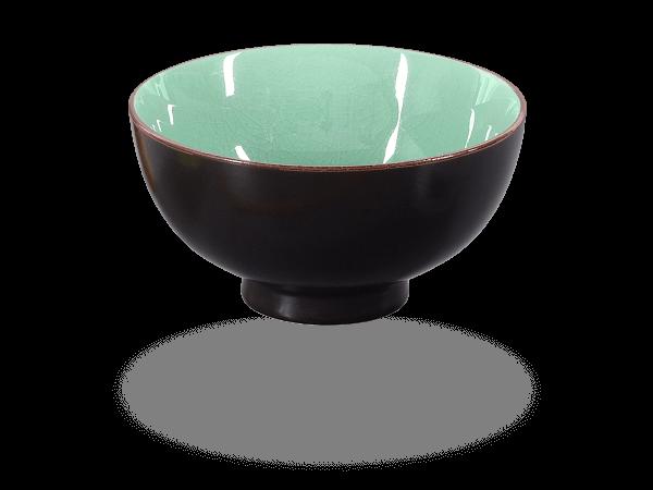 Matcha-Schale craquele moosgrün