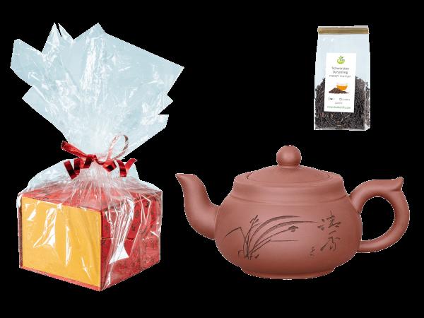 Tee Geschenk, Chinesische Teekanne Ton Wuhan, 350ml