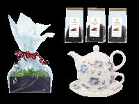 Tee Geschenk Buchensee Tea for One, Fine Bone China, Tassendeko
