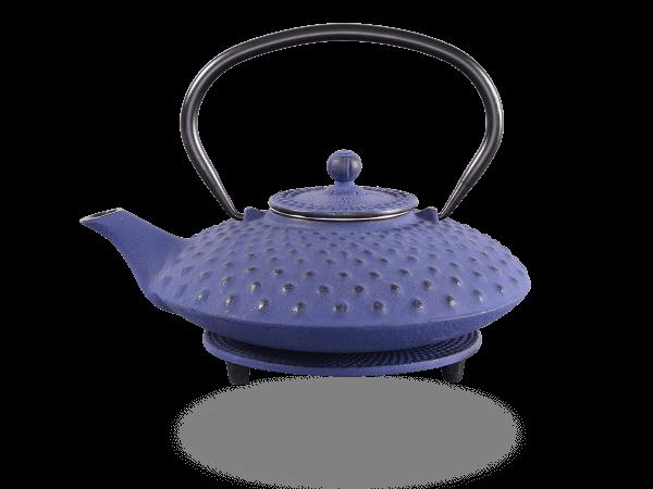 Teekanne Gusseisen Aneko 0,8l marinblau mit Sieb