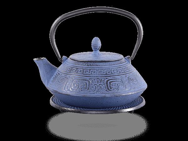 Teekanne Gusseisen Akira 1,2l japanblau mit Sieb