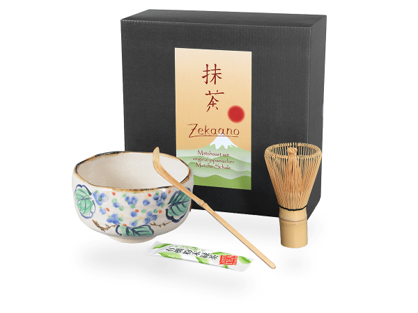 Matcha Set Japan blattdesign