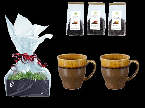 Tee Geschenk Japanische Teetassen, braun