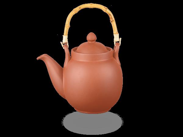 Chinesische Tenno Teekanne Ton klassisch mit Sieb