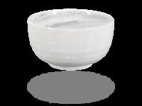 Matcha Schale handbemalt weiß-grau 450ml, original Japan