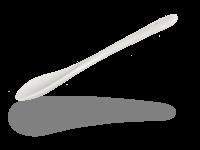Löffel für Buchensee Zuckerdose, Porzellanlöffel weiß