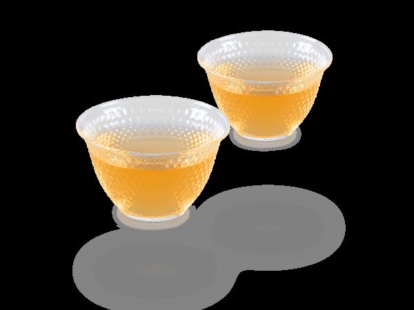 Japan Teecup Glas, Arare glänzend, 90ml