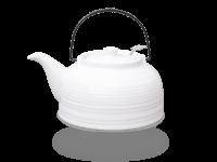 Nelly Teekanne Keramik 1,5l mit Sieb komplett weiß