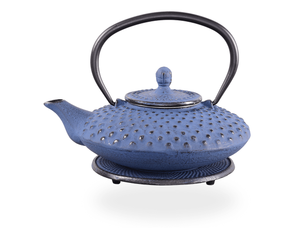 Teekanne Gusseisen Aneko 0,6l japanblau mit Sieb