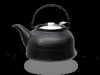 Teekanne Nelly 1,5 Liter Keramik schwarz-weiß Edelstahlsieb