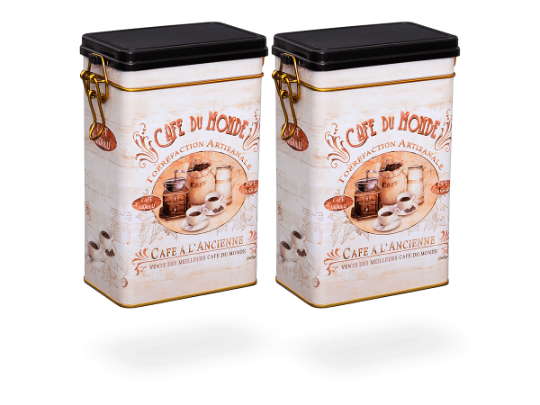 "Teedose vintage mit Aromaverschluss ""Classic Coffee"" eckig, 500g, 2 Stk"