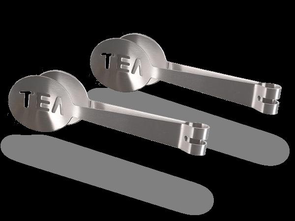 Teebeutelzangen-Set 2tlg aus Metall