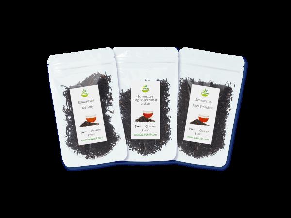Tee Probierset mit 3 schwarzen Tees, blends