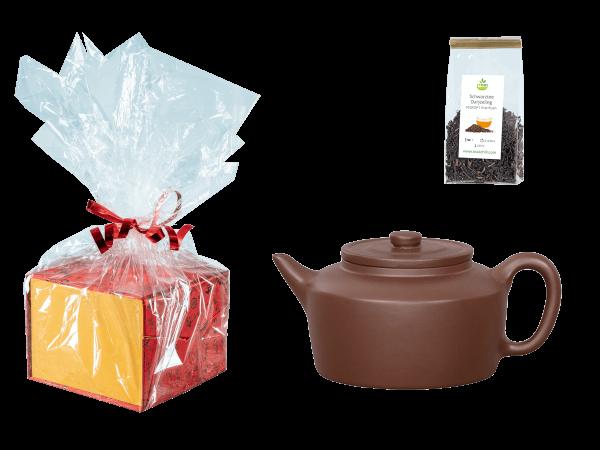 Tee Geschenk, Chinesische Teekanne Ton Wuxi, 300ml