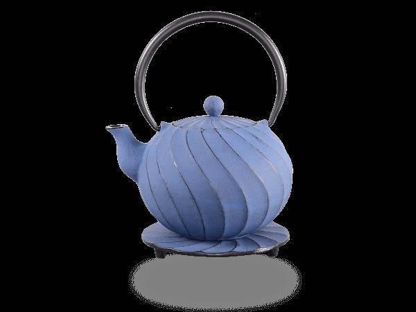 Teekanne Gusseisen Bara 1,0l japan blau mit Sieb