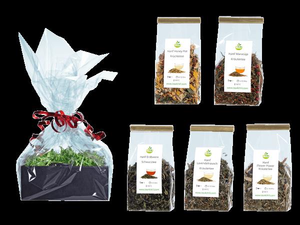 Tee Geschenkset Hanftee Premium in Beutel