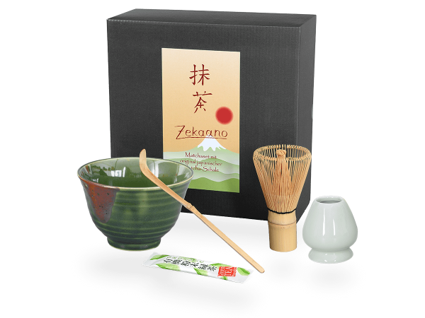 Matcha Set Japan dunkelgrün