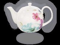 Buchensee Teekanne Porzellan Blumendeko 1,5l Fine Bone China