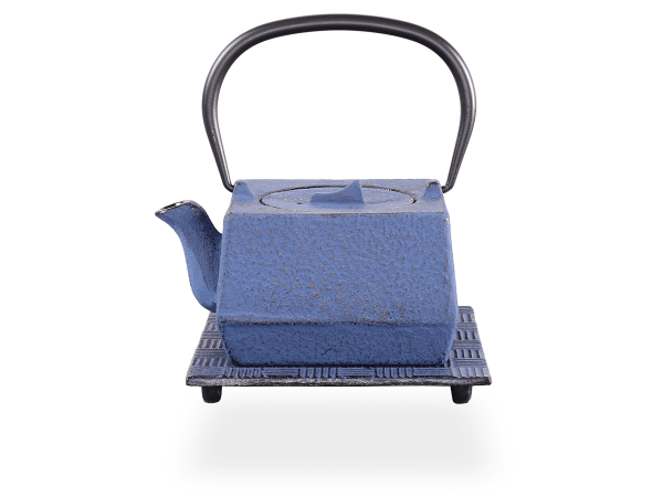 Teekanne Gusseisen Hako 0,6l japanblau mit Sieb