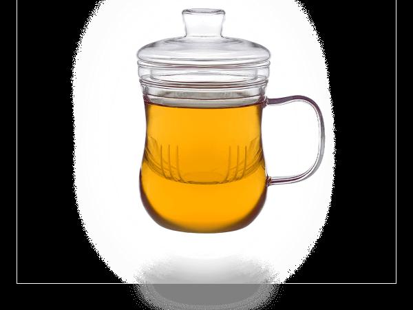 Teetassen mit Sieb und Deckel 400 ml modern