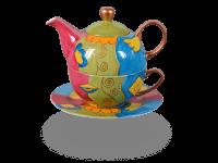 Tea for one, Modern Art Line Lilly 400 ml, grün/blau