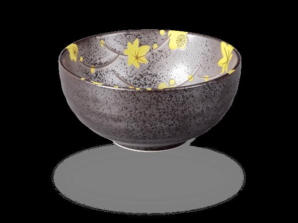 Matcha-Schale anthrazit-gelb
