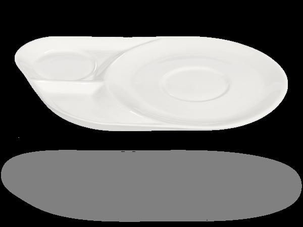 Ablageteller, Untertasse mit Ablageflächen weiß