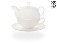 Tea for one, Lena 500 ml, Crystal Bone China, weiß