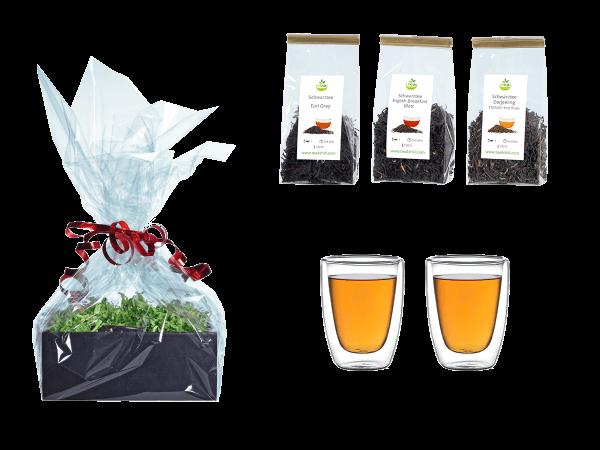Tee Geschenk doppelwandige Glascups 100ml