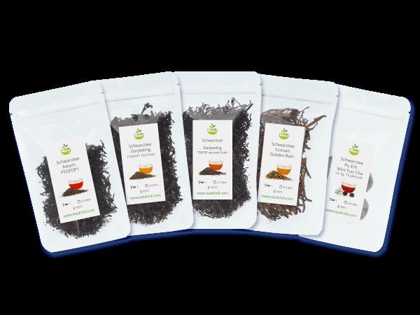 Tee Probierset mit 5 schwarzen Tees pur
