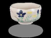 Matcha Schale handgefertigt Blumendesign 450ml, original Japan