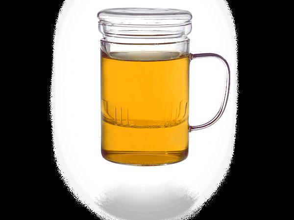 Teetassen mit Sieb und Deckel 400 ml klassisch
