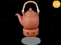 Tenno Teekanne mit Stövchen aus Ton 1,6l