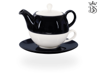 Tea for one, Lena 500 ml, Crystal Bone China, schwarz
