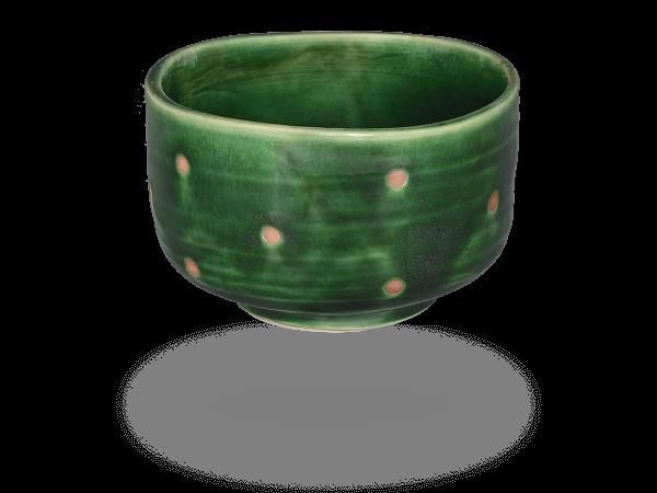 Matcha Schale handbemalt grün 390ml, original Japan