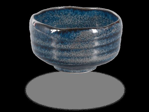 Matcha Schale handgefertigt schwarz-blau 500ml, original Japan