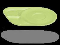 Ablageteller, Untertasse mit Ablageflächen grün
