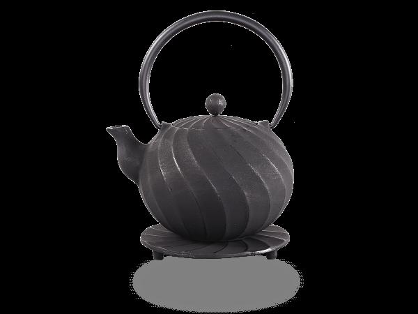 Teekanne Gusseisen Bara 1,0l schwarz mit Sieb