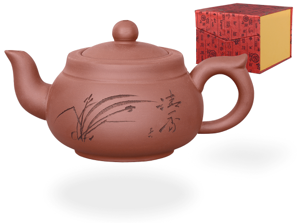 Chinesische Teekanne Ton Wuhan, 400ml, in Geschenkbox