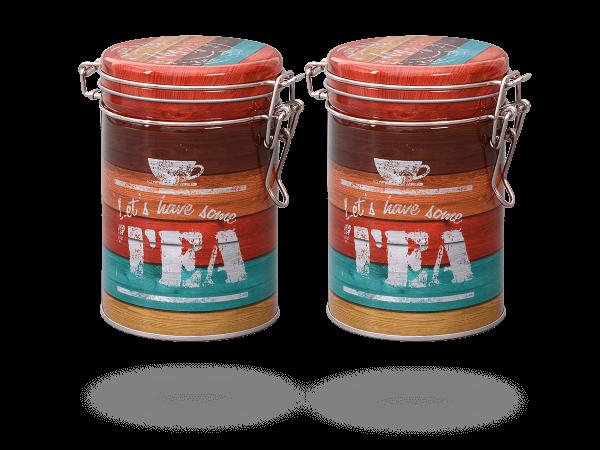 """Teedose """"Vintage Tea"""" mit Aromaverschluss rund, 200g, 2 Stk"""