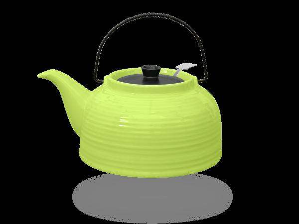 Teekanne Nelly 1,5 Liter Keramik grün Edelstahlsieb!