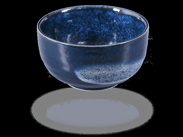 Matcha Schale handbemalt dunkelblau 450ml, original Japan