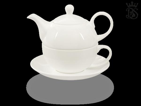 Tea for one, 400 ml, Fine Bone China, weiß ohne Deko