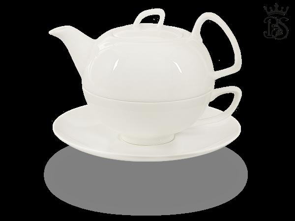 Tea for one, 550 ml, Fine Bone China, Schwanensee