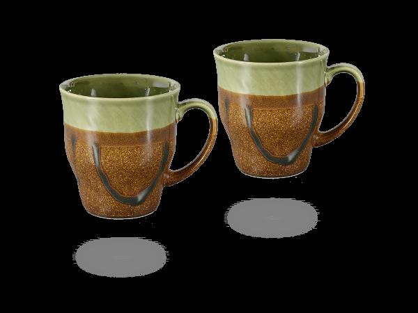 Japanische Teetassen braun - grün 230 ml