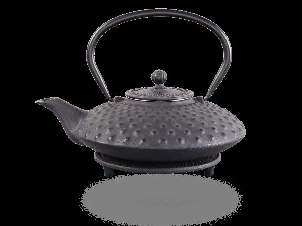 Teekanne Gusseisen Aneko 0,8l schwarz mit Sieb