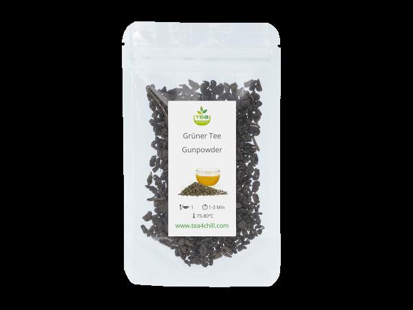 Teeprobe Grüner Tee Gunpowder