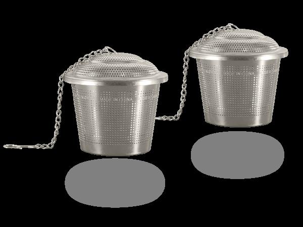 Teefilter-Set 2Stk Teesiebe aus Edelstahl