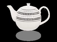 Buchensee Teekanne Porzellan Rautendeko 1,5l Fine Bone China