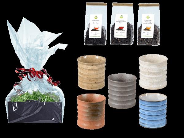 Tee Geschenk Japanische Teetassen, 5Stk gewellt